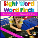 Sight Words | Word Find for Seesaw | Distance Learning