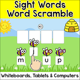 Sight Words Word Scramble Spelling Game for Whiteboards - Spring Activities