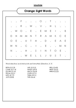 Sight Words Word Search Bundle!!