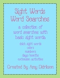 Sight Words Word Searches