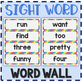 Sight Words Word Wall - 315 words