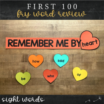 First Hundred Fry Sight Words - Heart Word Wall