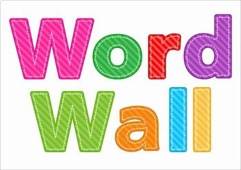 Sight Words Word Wall BUNDLE