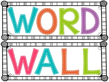 Classroom Decor Word Wall
