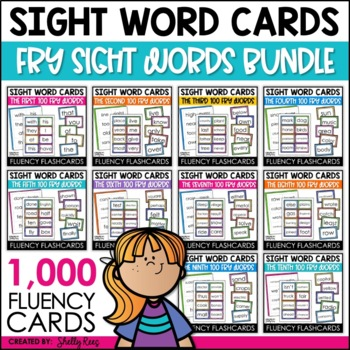 Sight Words Word Wall Bundle -1,000 Fry Words withPrintable Words
