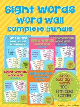 Sight Words Word Wall COMPLETE BUNDLE