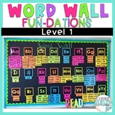 Sight Words Word Wall Cards - Fun dations Level 1 Trick Words