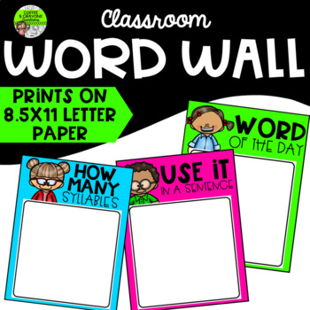 Sight Words Word Wall Classroom Decor