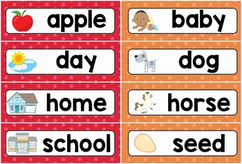 Sight Words Word Wall (Dolch Nouns)