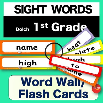 Sight Words - Word Wall / Flash Cards - 1st GRADE -  K-3 - Dolch - NO PREP
