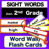 Sight Words - Word Wall / Flash Cards - 2nd GRADE -  K-3 - Dolch - NO PREP