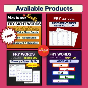 Sight Words - Word Wall / Flash Cards - 3rd GRADE -  K-3 - Dolch - NO PREP