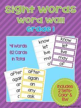Sight Words Word Wall (Grade 1)