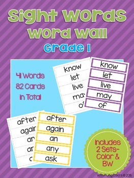 Sight Words Word Wall (Grade 1)