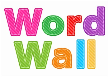 Sight Words Word Wall (Grade 1 Words)