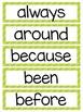 Sight Words Word Wall (Grade 2)