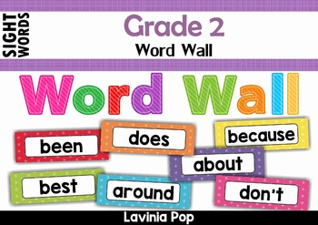 Sight Words Word Wall (Grade 2 Words)