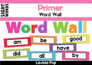 Sight Words Word Wall (Primer Words)