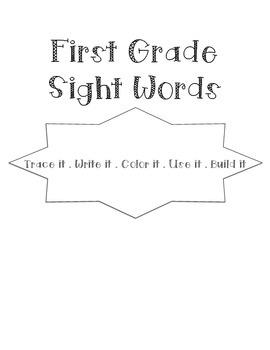Sight Words Word Work