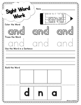 Sight Words Word-Work