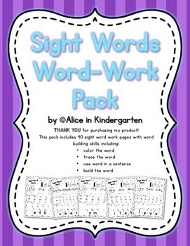 Sight Words Word-Work