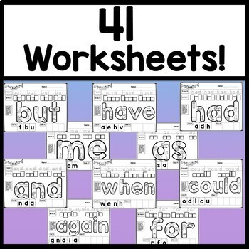 Third Grade Sight Word Worksheets {41 Practice Pages!}