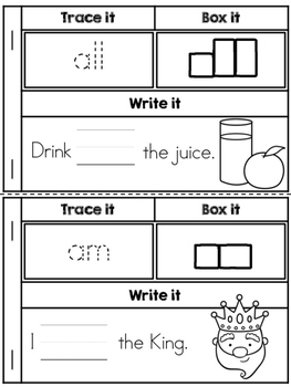 Sight Words Word Work Booklets (Primer Edition)
