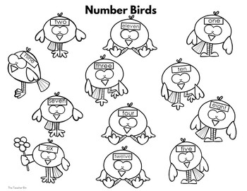 Kindergarten- Special Education  -Sight Words -Numbers Set