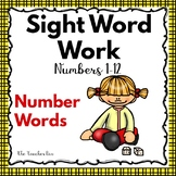Kindergarten- Special Education  -Sight Words Word Work -N