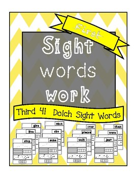Sight Words Work First