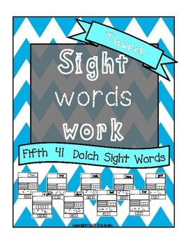 Sight Words Work Third