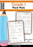 Sight Words Work Work (Grade 1)