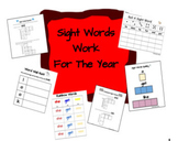 Sight Words Work for The Year