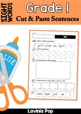 Sight Words Cut and Paste Sentences: Grade 1 Sight Words