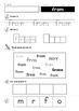 Sight Words Cut and Paste Worksheets (Grade 1)