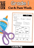Sight Words Center Activity: Cut and Paste Words No Prep Word Work | Grade 1