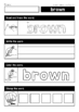 Sight Words Read it - Trace it - Stamp it - Color it (Colors and Numbers)