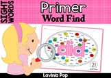 Sight Words Word Find (Primer Words)