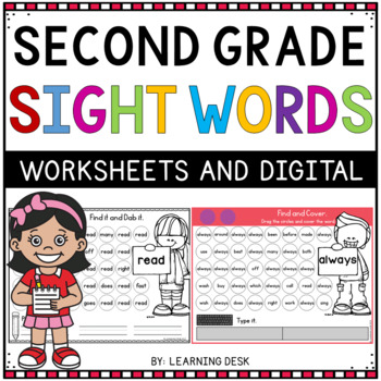 Second Grade Sight Words Activity Worksheets