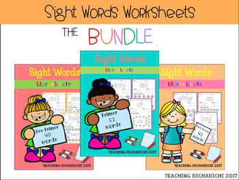 Sight Words Worksheets The BUNDLE