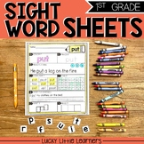 Sight Words Worksheets for 1st Grade (includes editable wo