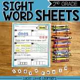Sight Words Worksheets for 2nd Grade (includes editable wo