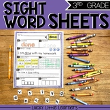 Sight Words Worksheets for 3rd Grade (includes editable wo