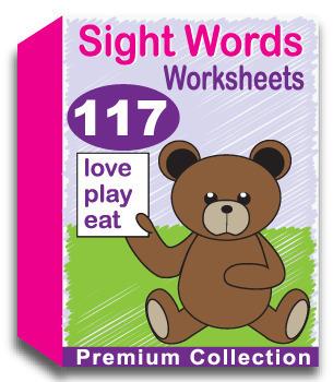 Sight Words Worksheets for Kindergarten (117 Pages)