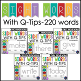 Q Tip Painting Sight Words Kindergarten, First, and Second