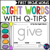 Q-Tip Painting First Grade Sight Words Worksheets