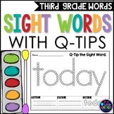 Third Grade Sight Words Activity   Q-Tip Painting Sight Words