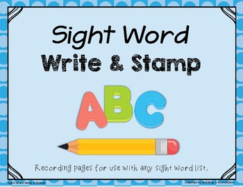 Sight Words - Write & Stamp