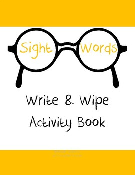 Sight Words Write & Wipe Activity Book