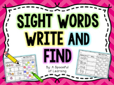 Sight Words Write and Find- FREEBIE!!